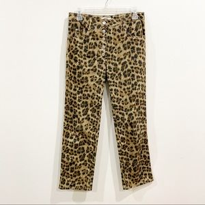Miaou Leopard Straight High Rise Jeans